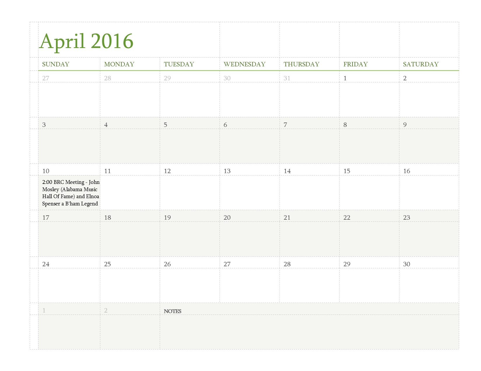 Calendar April 2016 : Calendar april birmingham record collectors